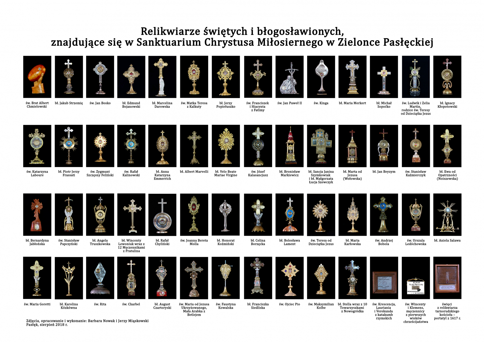 Relikwiarze świętych i błogosławionych